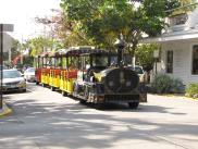 [Tourist train in front of the B&B]