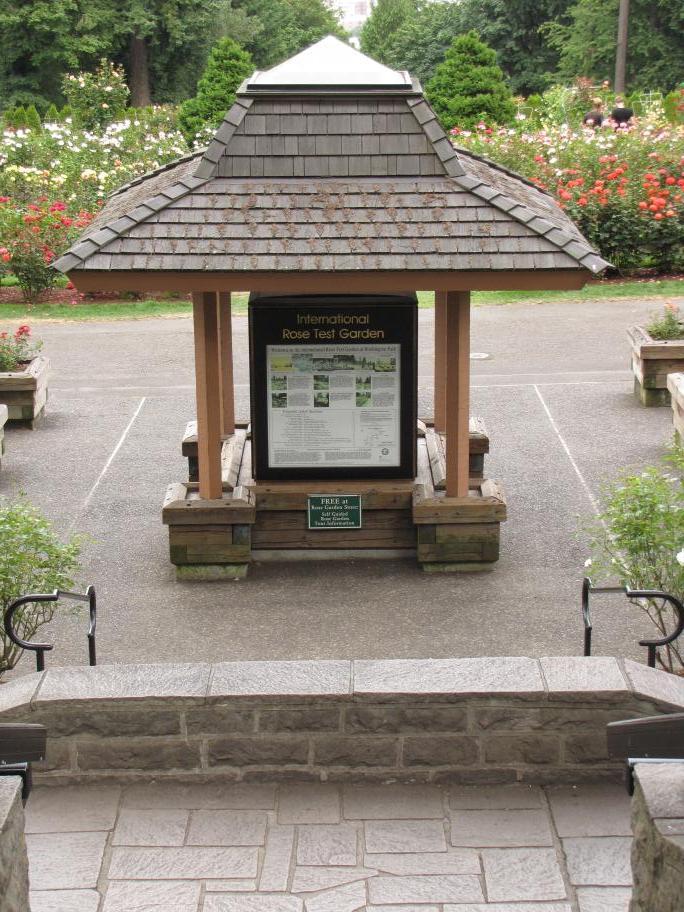 Entrance To Portland Rose Gardens : Portland gardens