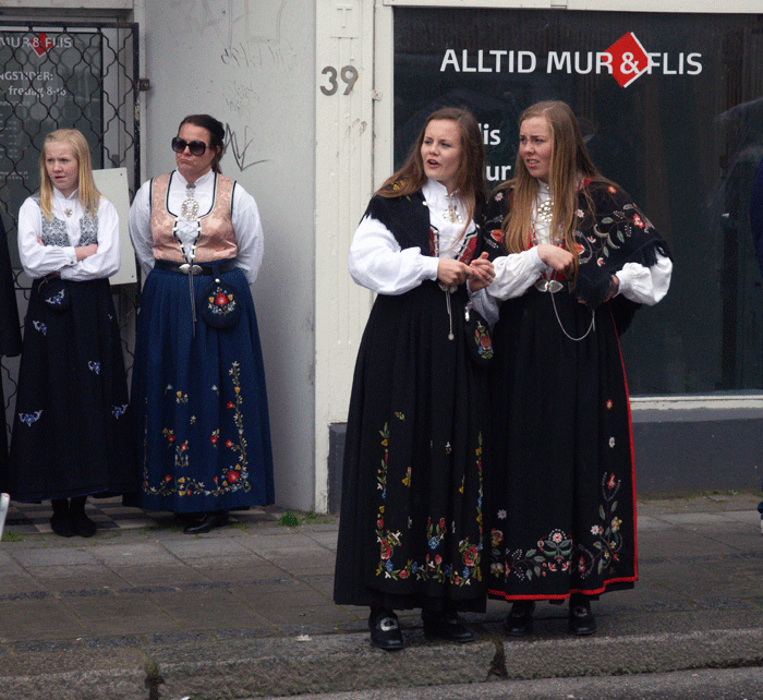 [Traditional Norwegian Costumes on National Day]
